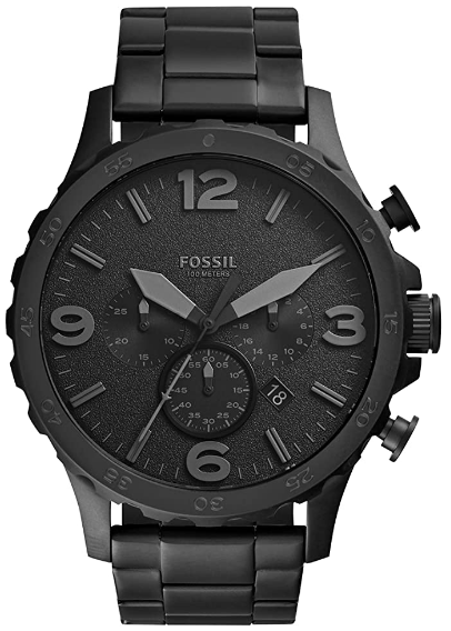 Fossil Men's Nate Stainless Steel Chronograph