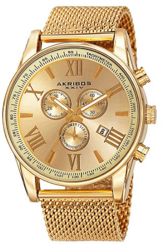 Akribos XXIV Swiss Chronograph Men's Watch