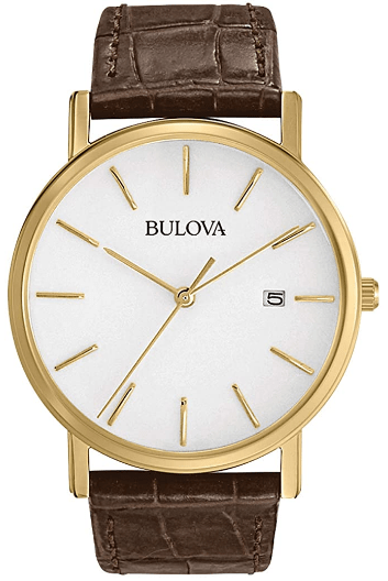 Bulova Men's 97B100 Classic Gold-Tone Stainless Steel Watch