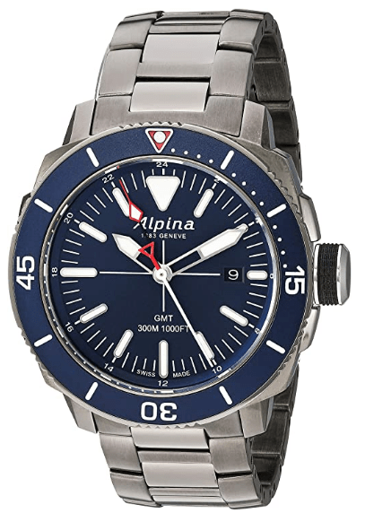 Alpina Men's Seastrong Diver Swiss Quartz Diving Watch with Stainless