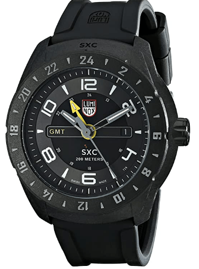 Luminox Men's GMT Analog Display Analog Quartz Black Watch