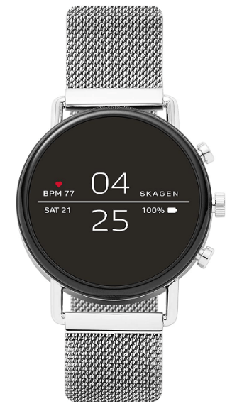 Skagen Connected Falster 2 Stainless Steel Touchscreen Smartwatch with Heart Rate,