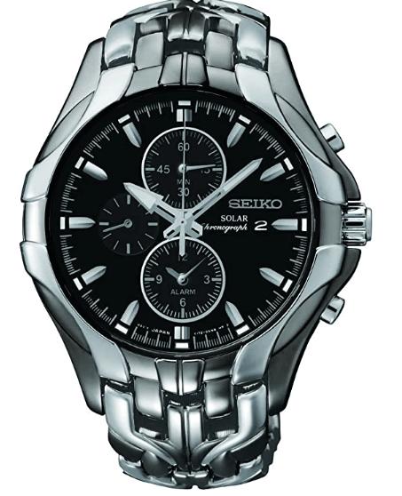Seiko Men's SSC139 E Stainless Steel Solar Watch