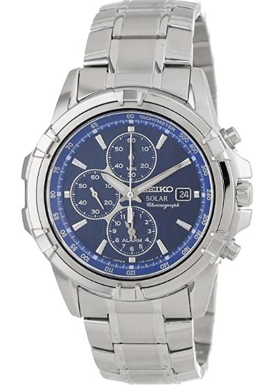 Seiko Men's SSC141 Stainless Steel Solar Watch