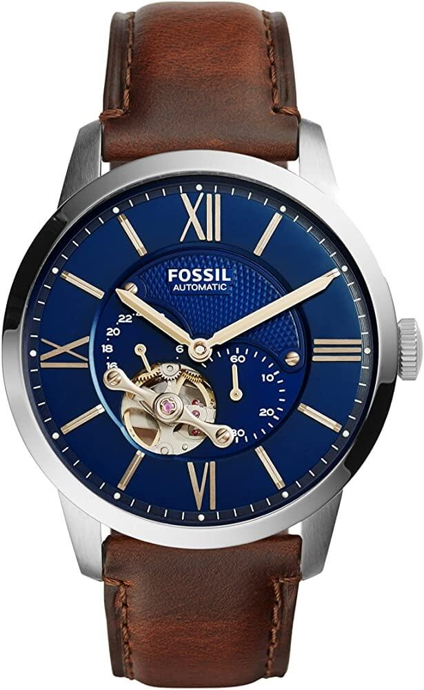 Fossil Men's Automatic Leather Multifunction Watch